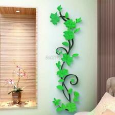 US 3D Removable Beautiful Flower Mirror Wall Decal Vinyl Art Stickers Home Decor