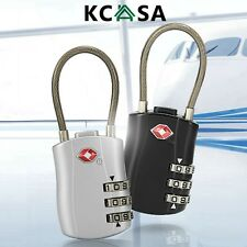 KCASA Travel TSA Approved Metal Luggage Lock 3 Digit Combination Suitcase Locks