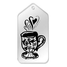 'Floral Tea Cup' Gift / Luggage Tags (Pack of 10) (vTG0018033)