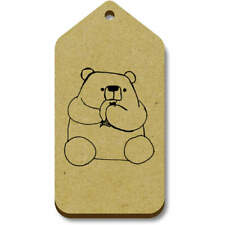 'Eating Bear' Gift / Luggage Tags (Pack of 10) (vTG0016314)