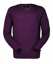 Mens Musto Merino V neck knit jumper/sweater -choice of colours -all sizes - new