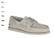 NEW Mens SPERRY TOP-SIDER Grey Leather A/O AUTHENTIC ORIGINAL CREPE Boat Shoes