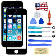 Black Front Glass Lens Replacement Screen Tool Kit LOCA UV Glue For iPhone 5 5S