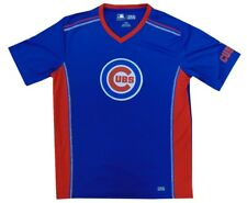 Chicago Cubs MLB Mens Majestic Fast Win Shirt Royal Blue Adult Size Large