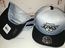 Mitchell & Ness NHL LA Kings Old School Logo Fade 2 Tone Fitted Cap Hat