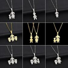 Unique Stainless Steel Single Mother Kids Pendant Chain Necklace Jewelry Optimal