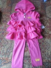 NWT Juicy Couture New Hot Pink 2 pc hoodie SZ 12-18M, 18-24M NWT