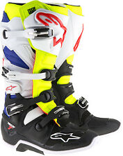ALPINESTARS  TECH 7 BOOTS BLACK/WHITE/BLUE/YELLOW [ALL SIZES]