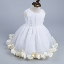 Infant Baby Girl Kid Sleeveless Princess TuTu Dress Pageant Flower Wedding Party