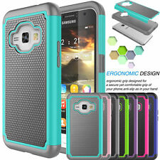 For Samsung Galaxy Express 3 / Luna 2016 PC Shockproof Rubber Hard Case Cover