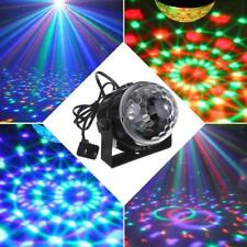 5W RGB Crystal Magic Ball Effect Stage Light Voice Control Party Disco Club