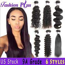 8A Brazilian Body Wave/Curly/Straight/Deep Human Hair Bundles Weave Extensions