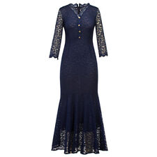 Sexy Mermaid Vintage Lace Maxi Slim Formal Prom Party Evening Bodycon Long Dress