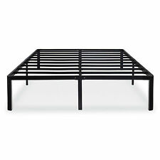 NEW Heavy Duty Metal Platform Bed Frame w/ Round Legs Attaches to Most Headboard