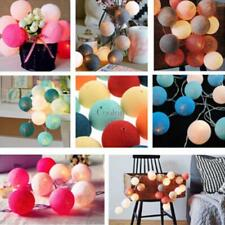 New 20LED Cotton Ball String Light Holiday Wedding Party Christmas CO99