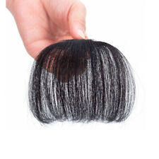 New 3g Thin Human Hair Neat Air Bangs Extension Clip In Fringe Front Hairpiece