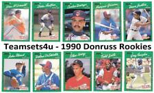 1990 Donruss Rookies Baseball Set ** Pick Your Team **