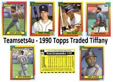 1990 Topps Traded Tiffany Baseball Team Sets ** Pick Your Team Set **