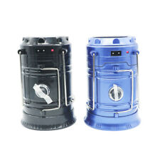 Outdoor Collapsible Solar Rechargeable Camping Lantern Light LED Hand Lamp Light
