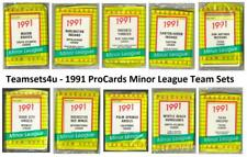 1991 ProCards Minor League Baseball Team Sets ** Pick Your Team Set **