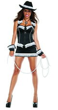 Sexy Starline Rhinestone Cowgirl Black Dress 5pc Costume S3131 ~ SALE