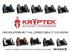Coverking Kryptek Neosupreme Seat Covers with Black Sides for Chevy Tahoe