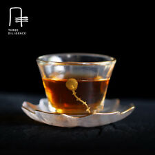 Glass Teacup with tray  tea cups and tray shot glass and repair coffee mug