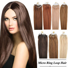 100g/100S 18/20/22 inch Micro Ring Loop Tipped Human Hair Extensions 7A