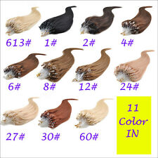 New 7A 100g/100S 18''/20''/22'' Micro Ring Loop Tipped Human Hair Extensions