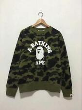 Little Ape Head Unisex Men's A Bathing Ape Camo Crew Neck Hoodie Sweater Bape