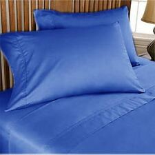 1000 TC 100 Egyptian Cotton Egyptian Blue Solid All US Sizes Bedding Collection