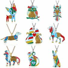 2017 Woman Animals-themed Dog Elephant Butterfly Pendant Necklace Party Gift