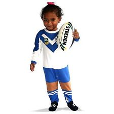 NRL Canterbury Bulldogs Infant Footysuit Sizes 000 - 1
