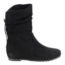 ShoeDx Women's Slouchy Pull On Draw String Mid-Calf Boots