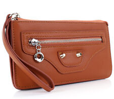 Small Clutch Bag With Wristlet Strap
