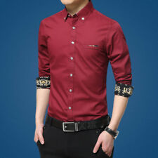 Male Shirts Slim Camisa Social Masculina Casual Business Mens Dress Shirts Long