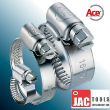 JUBILEE HOSE CLIPS ACE BRAND ZINC PLATED QUALITY PIPE CLAMPS ALL SIZES 9.5-165MM