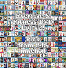 Exercise & Fitness DVD Lot #2: 248 Movies to Pick From! Buy Multiple And Save!