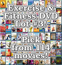 Exercise & Fitness DVD Lot #3: 114 Movies to Pick From! Buy Multiple And Save!
