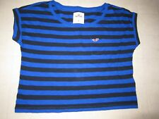 Hollister by Abercrombie Women McGrath Beach Stripe Tee Shirt Sz S/M - NWT