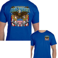 USAF United States Air Force Military Planes Aircraft Front & Back Tee T Shirt