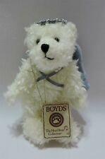 """Boyds Bear Lil Honey Angel Plush Jointed White Blue 6"""" Head Bean Collection"""