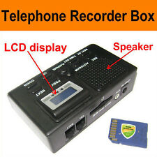 Digital Telephone Call Recorder LCD Display w/ SD Card Phone Slot Voice Recorder