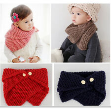 Baby Scarf Bevel Button Woolen Kids Boys&Girl Collars Child Neck Rings Scarf、Fad