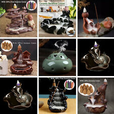 Buddha Dragon Porcelain Backflow Ceramic Incense Burner Holder Buddhist Decor