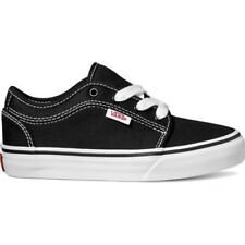 Vans Skate Chukka Low Kids Footwear Shoe - Black White All Sizes