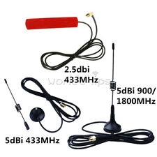 2.5/5dBi 433/900/1800MHz GSM GPRS Antenna SMA/FME Plug Connector 3M RG174 Cable