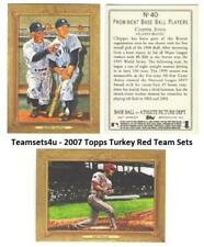 2007 Topps Turkey Red (Base) Baseball Set ** Pick Your Team **