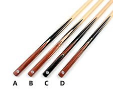 One 1 Piece Snooker Cue Maple Shaft Handmade Pool Mahogany Cues Case Extension