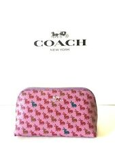 NWT Authentic COACH F13528 COSMETIC CASE BUNNY PRINT Lilac Purple Rabbit Ret $75